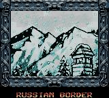 Indiana Jones and the Infernal Machine Game Boy Color Level 3 - Intro screen - Russian Border
