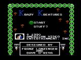 Krazy Kreatures NES Title screen