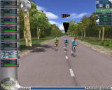 Cycling Manager 4 Windows Three cyclers breaking off from the main group.