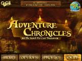 Adventure Chronicles: The Search for Lost Treasure Windows Main menu