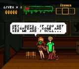 Scooby-Doo Mystery SNES Daphne hands out Scooby Snacks