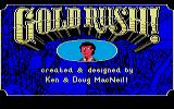 Gold Rush! Atari ST Title screen.