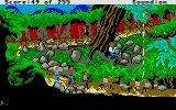 Gold Rush! Atari ST Going through the jungle on foot.