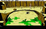Space Quest: Chapter I - The Sarien Encounter Atari ST A nasty spider droid is on the ground.