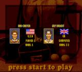 International Tennis Tour SNES Choose a tennis player