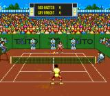 International Tennis Tour SNES The ball is above the net