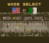 Dig & Spike Volleyball SNES Mode select