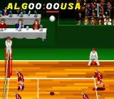 Dig & Spike Volleyball SNES The ball up in the air