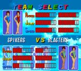 Dig & Spike Volleyball SNES Team select in Beach Volleyball