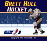 Brett Hull Hockey SNES Title screen