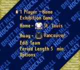Brett Hull Hockey SNES Main menu
