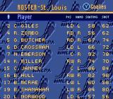 Brett Hull Hockey SNES Team roster