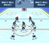 Brett Hull Hockey SNES Face off