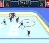 Brett Hull Hockey SNES About to take a shot