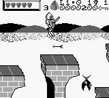 Wizards & Warriors X: Fortress of Fear Game Boy Level 1.0, dodging an arrow