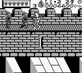 Wizards & Warriors X: Fortress of Fear Game Boy Attacking two warriors