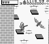 Wizards & Warriors X: Fortress of Fear Game Boy The first boss - a giant bat