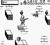 Wizards & Warriors X: Fortress of Fear Game Boy Level 2.0 - try not to jump into teh spiders