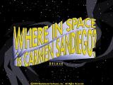 Where in Space Is Carmen Sandiego? (Deluxe Edition) DOS Title