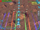 RayCrisis: Series Termination PlayStation Area 3, formation flying on planet surface
