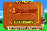 Mario Golf: Advance Tour Game Boy Advance Glossary