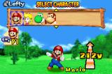 Mario Golf: Advance Tour Game Boy Advance Selecting a Character