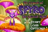 The Legend of Spyro: The Eternal Night Game Boy Advance Title screen