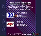 NCAA Final Four Basketball SNES Select teams