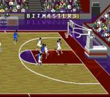 NCAA Final Four Basketball SNES Crowded around the net