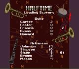 NCAA Final Four Basketball SNES Halftime leading scorers