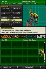 The World Ends with You Nintendo DS Info on Noise. (here, info on the boss present in one of the previous screens)