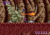 Shadow of the Beast Genesis Fighting a gargoyle