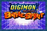 Digimon: Battle Spirit Game Boy Advance Title screen