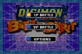 Digimon: Battle Spirit Game Boy Advance Main menu