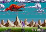 Shadow of the Beast Genesis Red dragons throw little exploding dragons at me