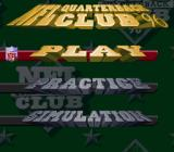 NFL Quarterback Club 96 SNES Main menu