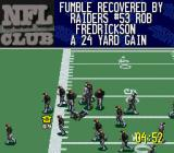 NFL Quarterback Club 96 SNES And it's recovered by the Raiders.