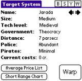 Space Trader Palm OS Target System