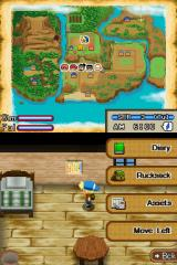 Harvest Moon DS: Island of Happiness Nintendo DS The game-menu.