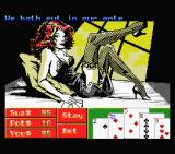 Playhouse Strippoker MSX Starting to play with Sue - screen 1 (MSX1)
