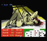 Playhouse Strippoker MSX Sue is betting - screen 2 (MSX1)