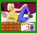 Playhouse Strippoker MSX Starting to play with Diana (MSX2)
