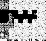 Metroid II: Return of Samus Game Boy Using the wave beam to cut through the foam