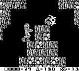 Metroid II: Return of Samus Game Boy Some enemies are partially protected