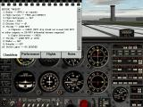 Pro Pilot '99 Windows In-cockpit with the preflight checklist.