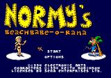 Normy's Beach Babe-O-Rama Genesis Title screen