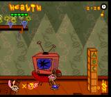 The Ren & Stimpy Show: Veediots! SNES Break a TV to get at some piggy bank money