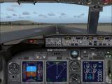 Microsoft Flight Simulator X Windows Boeing 737-800 cockpit, ready to Take Off