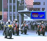 GP-1 SNES Menu before a race