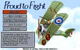 Knights of the Sky Amiga Main menu